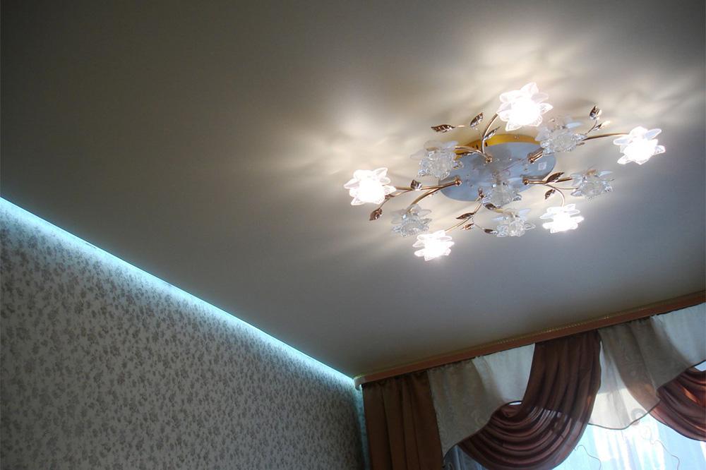 освещение для натяжных потолков фото магазины